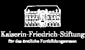 Kaiserin Friedrich-Stiftung Logo Weiss